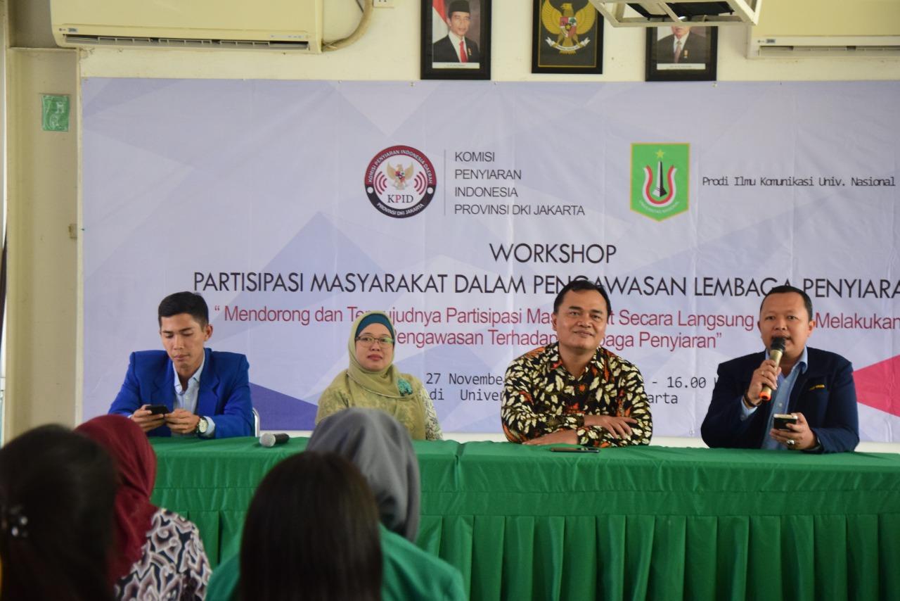 Unas Gelar Workshop Penyiaran Media, Kerjasama Dengan Komisi Penyiaran Indonesia
